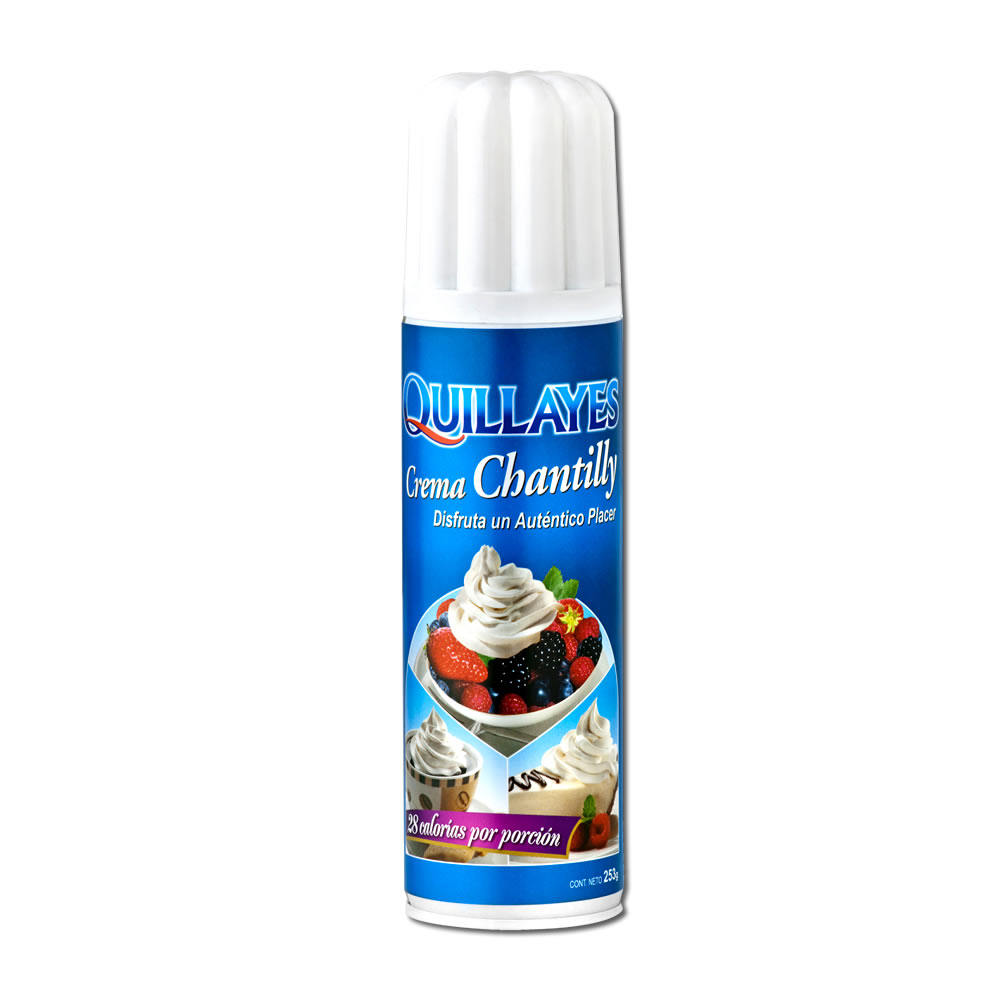 Crema chantilly spray quillayes diprosel for Chantilly photo